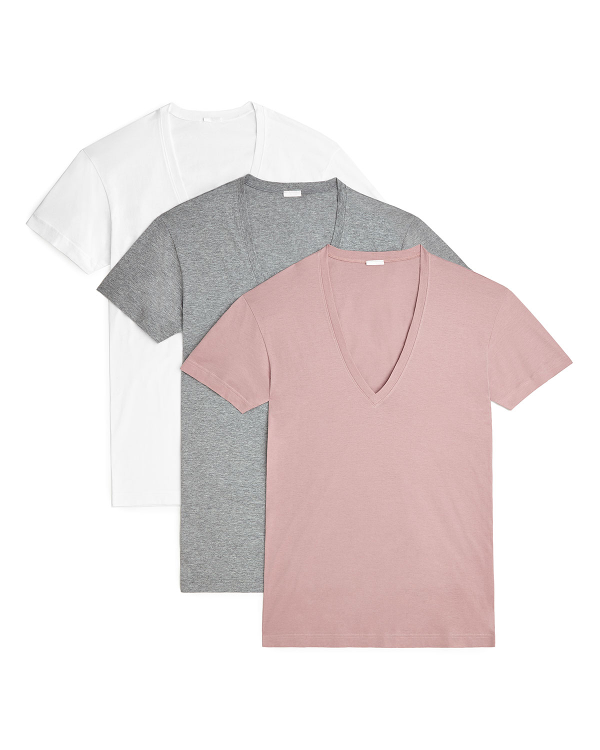 2(X)ist T-shirts MEN'S 3-PACK SLIM T-SHIRTS WITH DEEP V NECK