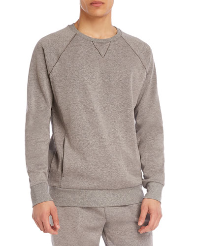 Men's Brushed Fleece Raglan Sweatshirt