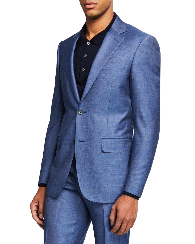 Men's Super 130s Wool Two-Piece Suit