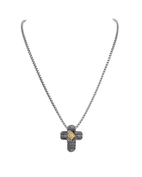 Konstantino 18K Gold/Silver Cross Pendant Necklace