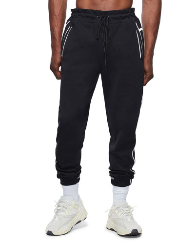 Men's Double Zip-Pocket Sweatpants w/ Contrast Trim