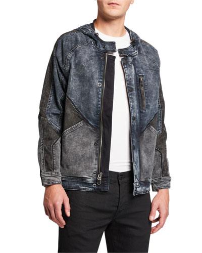 Men's Dylan Hooded Denim Jacket