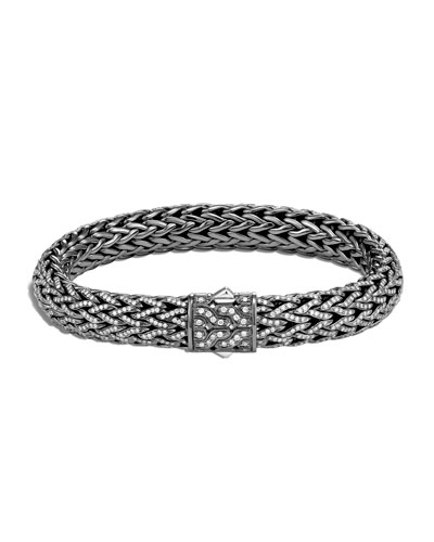 Men's Classic Chain Diamond Pave Bracelet, Size M-L