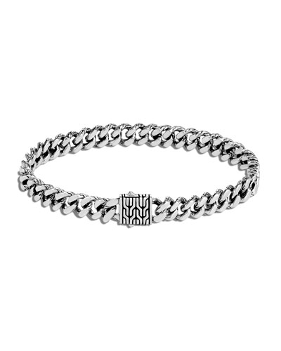 Men's Classic Chain Small Link Bracelet, Size M-L