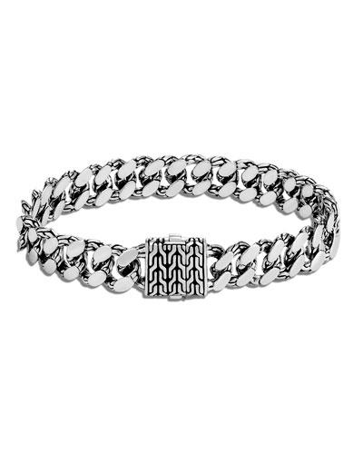Men's Classic Chain Large Link Bracelet, Size M-L