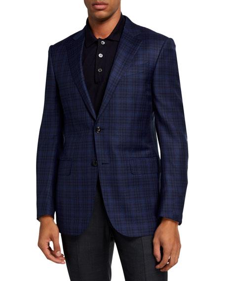 Ermenegildo Zegna Men's Windowpane Check Regular-Fit Sport Jacket