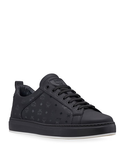 Men's Logo Group Faux-Leather Sneakers