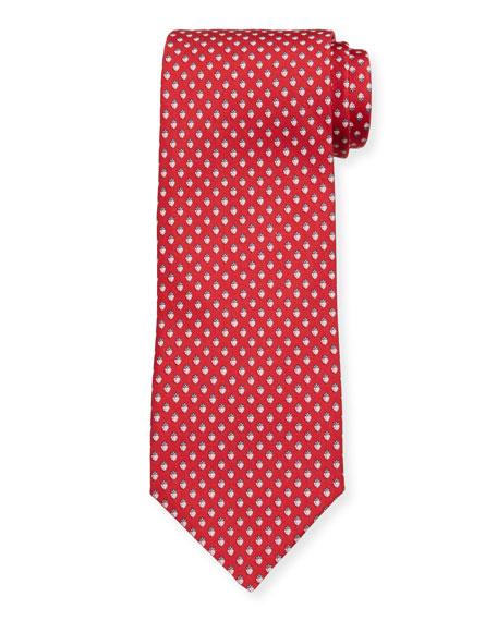 Salvatore Ferragamo Lalla Strawberry-Print Tie, Red