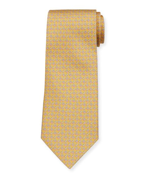 Salvatore Ferragamo  Limone Citrus-Print Tie, Yellow