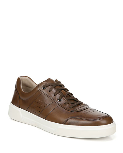Men's Barnett Perforated Leather Low-Top Sneakers