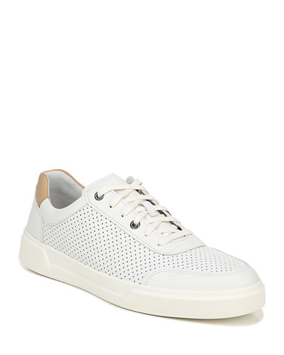 Men's Barnett 3 Perforated Leather Low-Top Sneakers