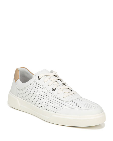 Vince Men's Barnett 3 Perforated Leather Low-Top Sneakers