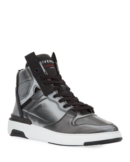 Givenchy Men's Wing Faux-Leather High-Top Sneakers