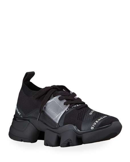 Givenchy Men's Jaw Logo Knit Chunky Sneakers