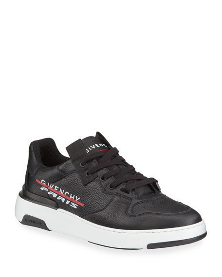 Givenchy Men's Wing Leather Low-Top Sneakers