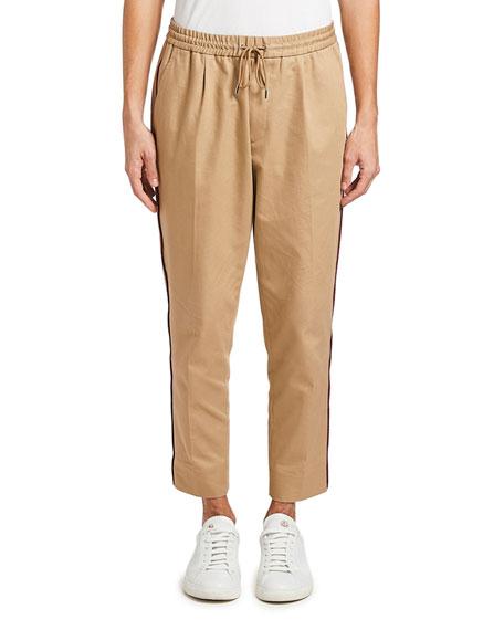 Moncler Men's Drawstring-Waist Twill Pants