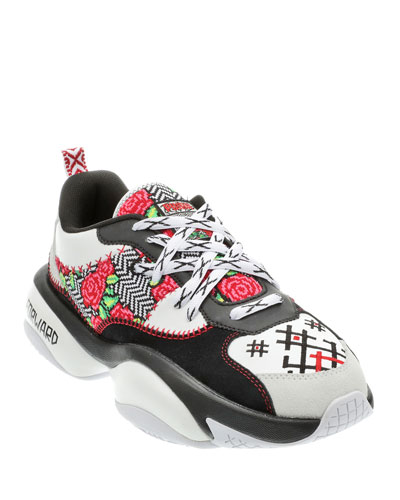 Men's Jahnkoy Alteration Futuristic Multipattern Sneakers