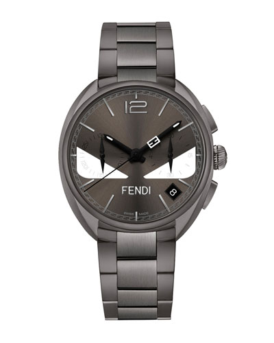 Men's 40mm Momento Fendi Bugs Chronograph Stainless Steel Watch