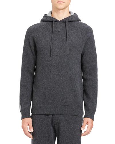 Men's Lounge Crimden Striped-Sleeve Hoodie Sweatshirt