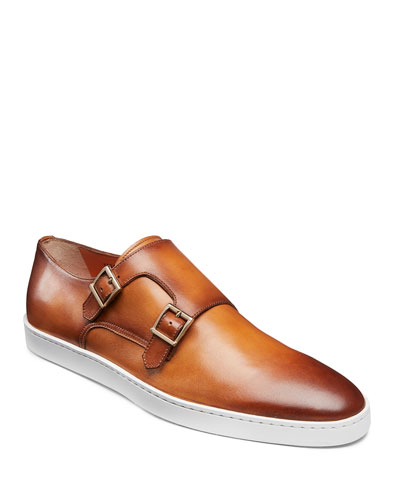 Men's Fremont Double-Monk Leather Sneakers