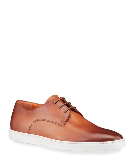 Santoni Men's Doyle Leather Derby Sneakers