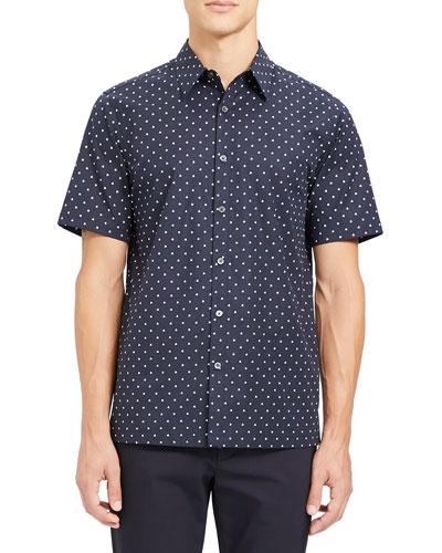 Men's Irving Rhombus-Print Short-Sleeve Sport Shirt