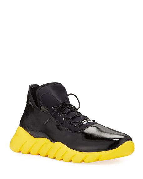 Fendi Men's Fade Contrast-Sole Running Sneakers