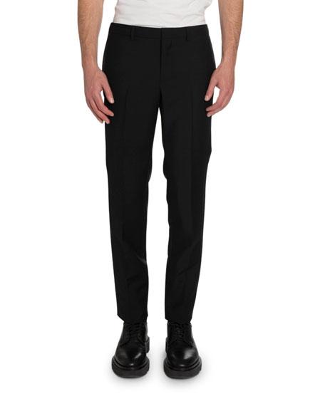 Givenchy Men's Satin-Trim Slim-Fit Wool Pants