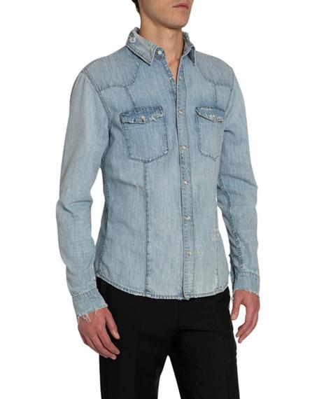 Givenchy Men's Slim-Fit Denim Western Shirt