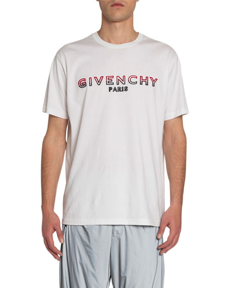 Givenchy Men's Logo Embroidery T-Shirt
