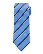 Canali Diagonal Stripes Silk Tie