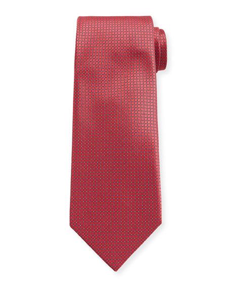 Canali Micro-Squares Silk Tie