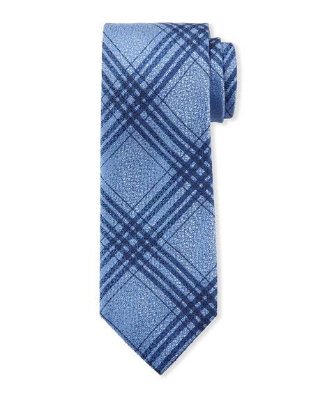 Canali Men's Plaid Silk Tie