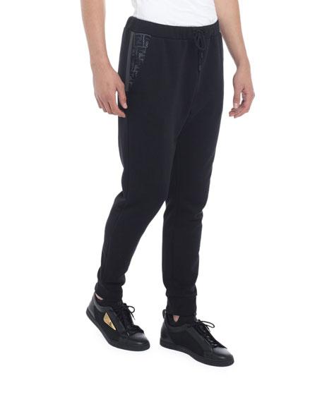 Fendi Men's FF Net Cotton-Blend Sweatpants