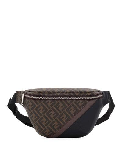 Men's FF Logo-Pattern Belt Bag