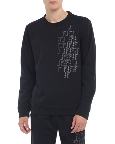 Fendi Men's Faded-FF Cotton-Blend Sweatshirt