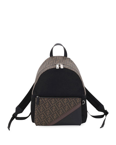 Men's FF Logo Colorblock Backpack