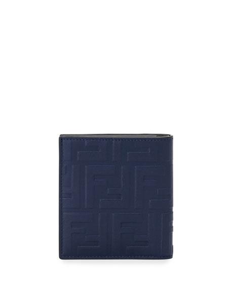 Fendi Men's Embossed FF Leather Wallet