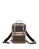 Fendi Men's Explorer FF Logo Python-Trim Backpack