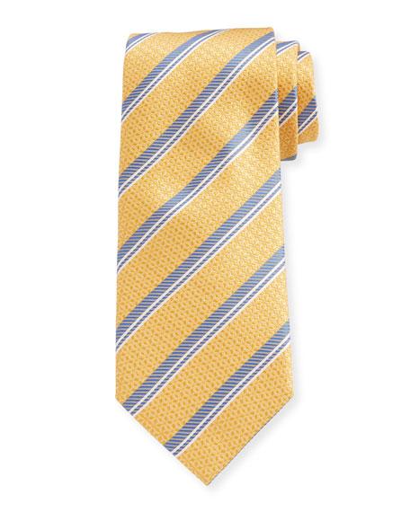 Canali Men's Diagonal Stripe Silk Tie