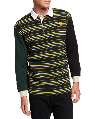 Men's Conor Striped Rugby Polo Shirt