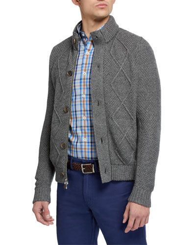 Men's Diamond-Knit Cardigan