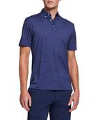 Peter Millar Men's Hibiscus-Print Polo Shirt