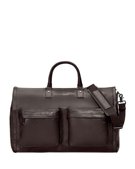 hook + Albert Men's Leather Garment Weekender Bag