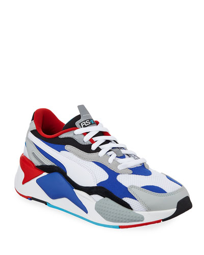 Men's RS-X3 Cube Colorblock Running Sneakers