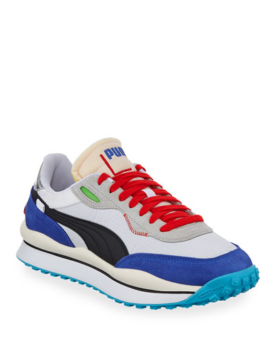 Men's Rider 020 Ride On Colorblock Running Sneakers