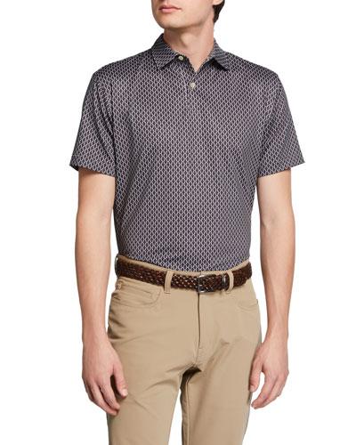 Men's Carter Timepiece-Print Jersey Polo Shirt