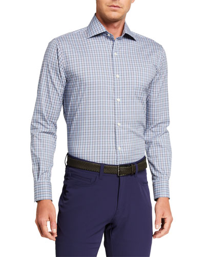 Men's Crown Comfort Madison Tartan Plaid Sport Shirt