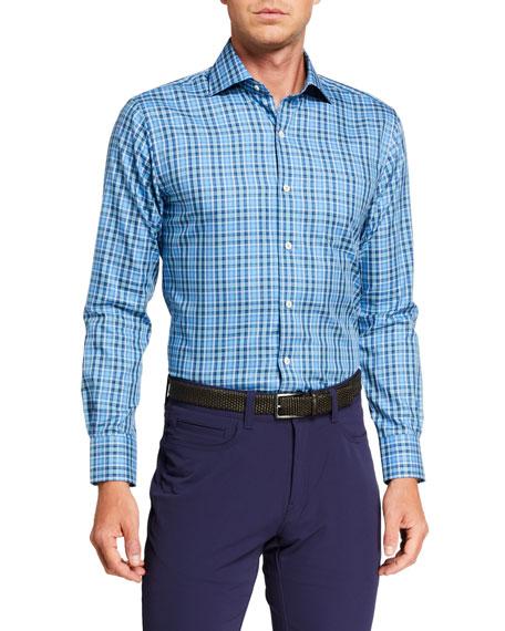 Peter Millar Men's Crown Soft Lewisburg Plaid Sport Shirt