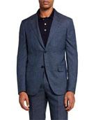 Ermenegildo Zegna Men's Regular-Fit Plaid Two-Piece Suit